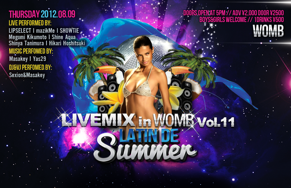 LIVEMIX in WOMB Vol.11 Latin de Summer